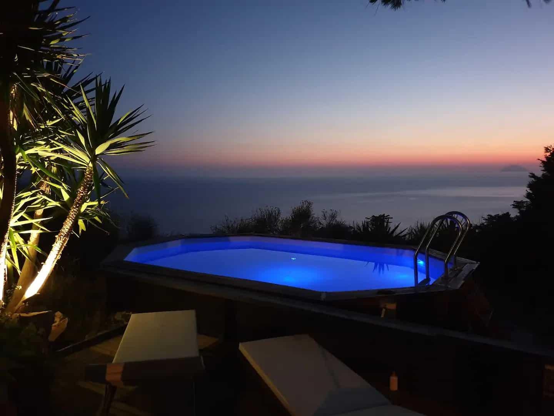 Maison romantique avec vue, piscine, jacuzzi et sauna