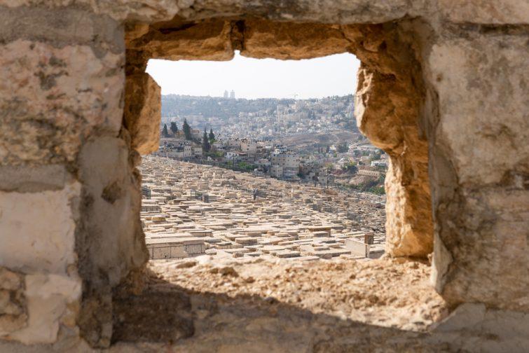 Vue depuis le cimetière juif du Mont des Oliviers