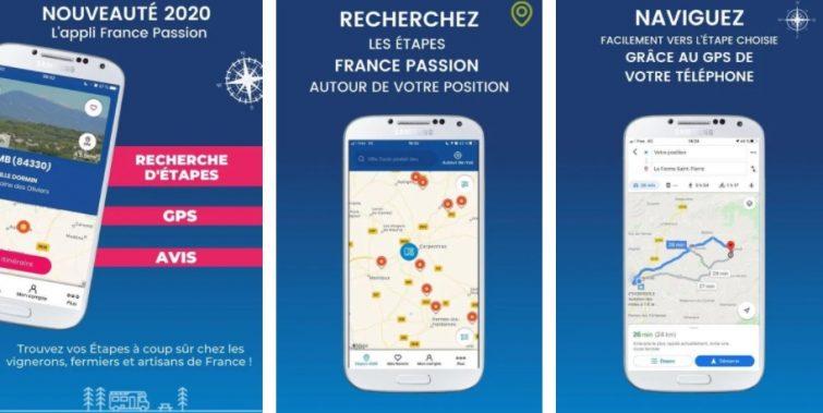 Trouver des aires de camping-car : France Passion