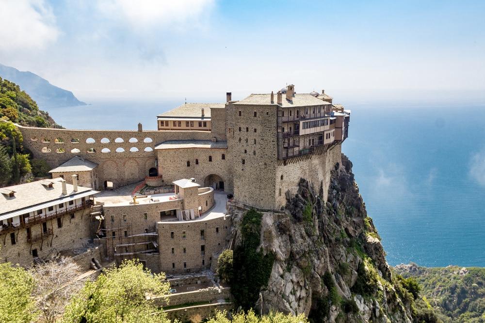 Le monastère de Simonopetra sur le Mont Athos