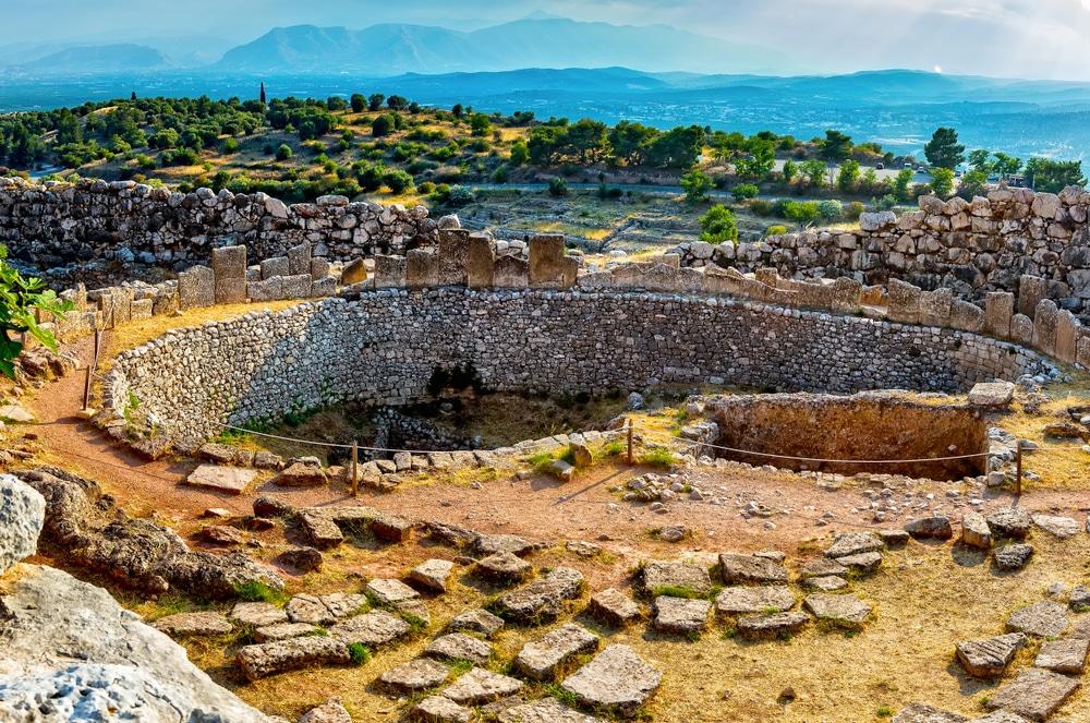Mycènes, près de Mikines en Grèce, dans le nord-est du Péloponnèse.