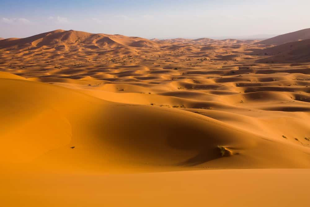 Les dunes du Sahara à Merzouga, photo du Maroc