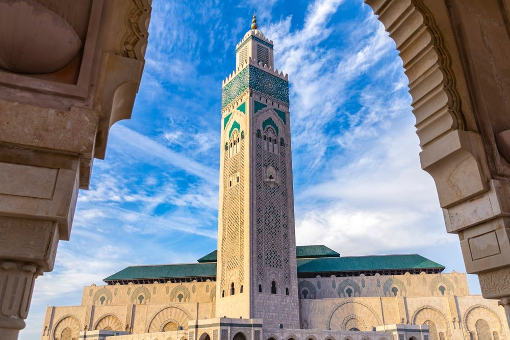 La mosquée Hassan-II située à Casablanca