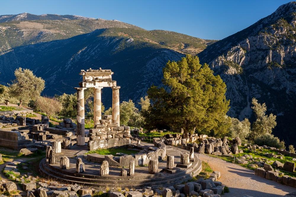 Sanctuaire d'Athena Pronaia, Delphes, Grèce