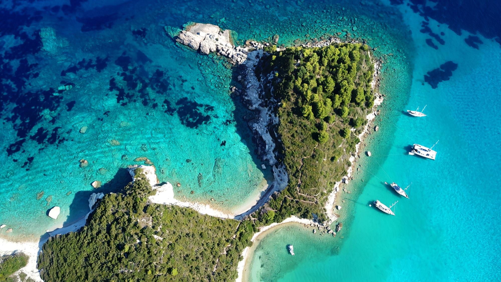 Croisière à Paxos et Antipaxos depuis Corfou, arrêt à Lakka sur Paxos