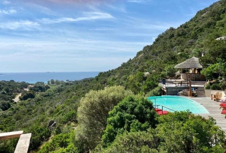 Villa face à la baie de Palombaggia