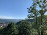 La passerelle d'Hautpoul depuis Mazamet
