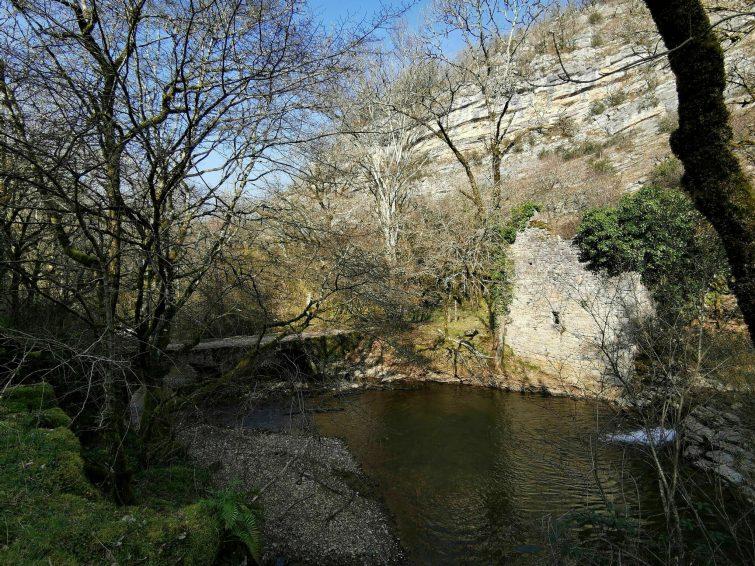 Les gorges de l'Alzou à Rocamadour