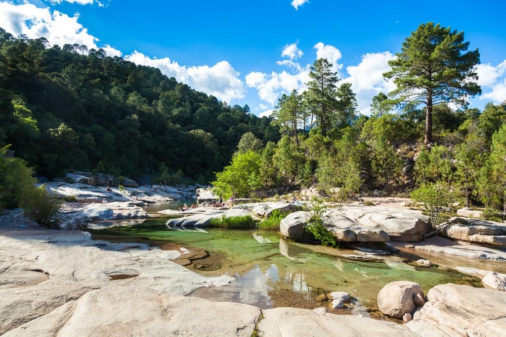 Cascades Corse : rivière de Cavu