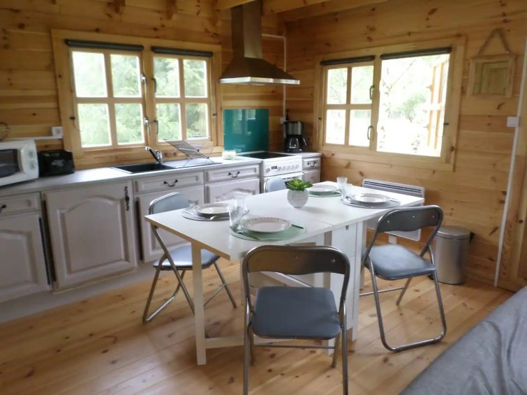Aux Chênes d ' Arian - Chalet insolite au vert Airbnb à Chambord