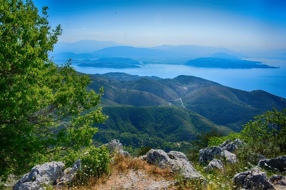Visiter Corfou : mont Pantokrator
