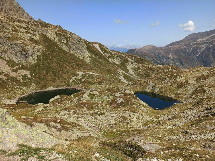lacs de Cheserys depuis la Flégère