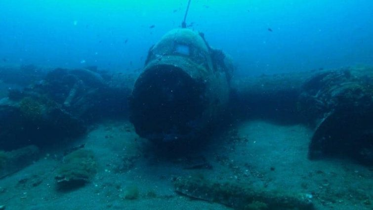 Plongée Minorque : L'épave de l'avion Junker-88