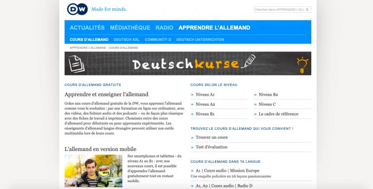 DW - sites apprendre allemand