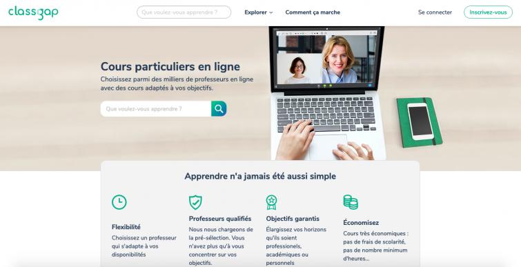 Classgap - sites apprendre portugais