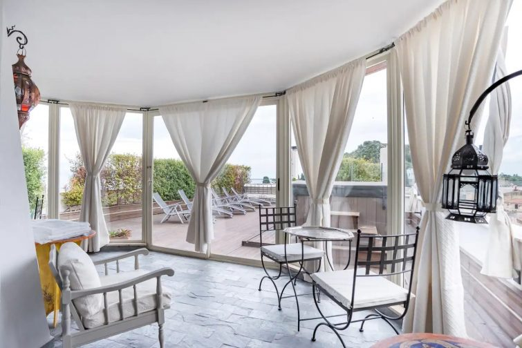 Admire the Taormina Skyline from the Sea View Terrace