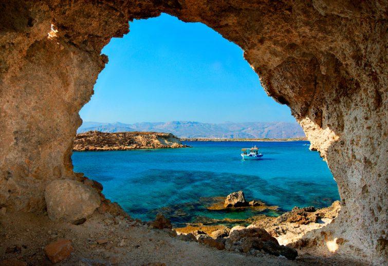L'île de Koufonissi, la Crète,