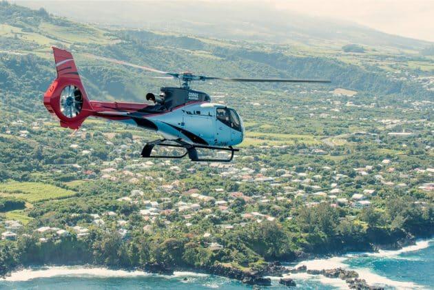 Les endroits où faire un tour en hélicoptère sur l'île de La Réunion
