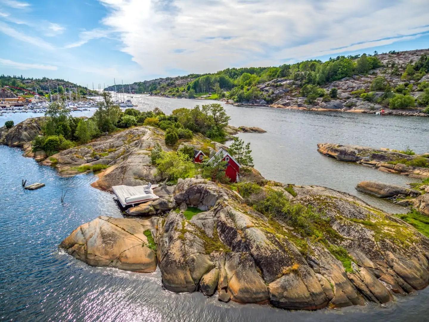 Île privée en Norvège