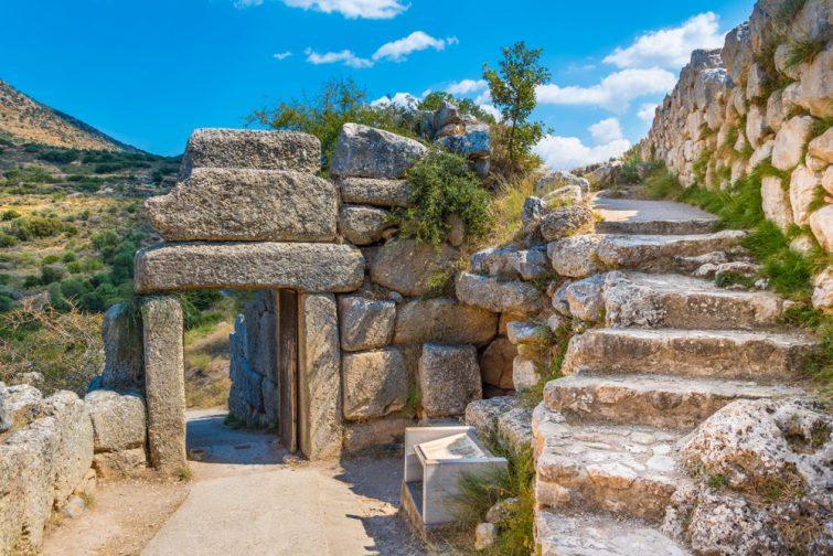 La porte nord du palais de Mycènes