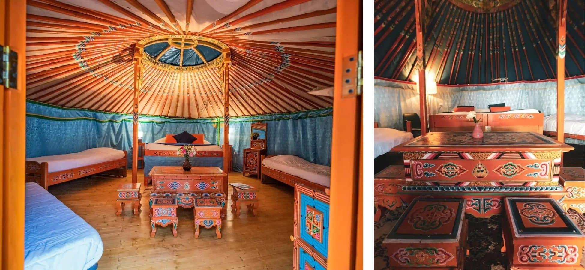 Yourte comme en Mongolie dans un village normand