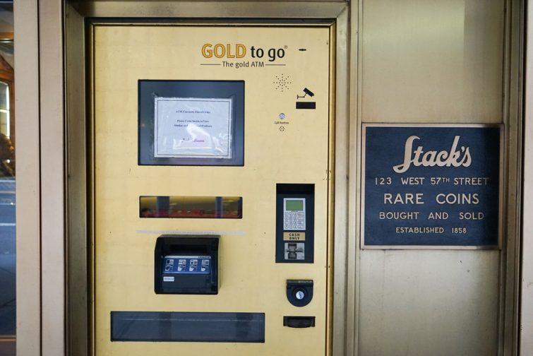 Au distributeur, on peut retirer… de l'or