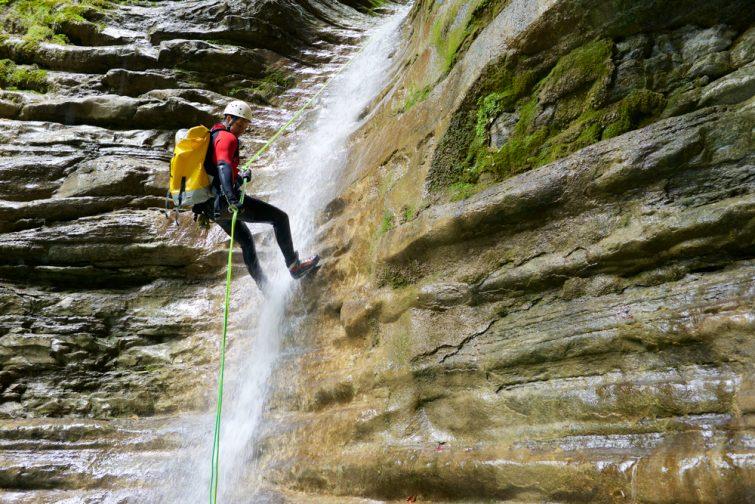 Canyon cascades de l'Alloix - canyoning Isère