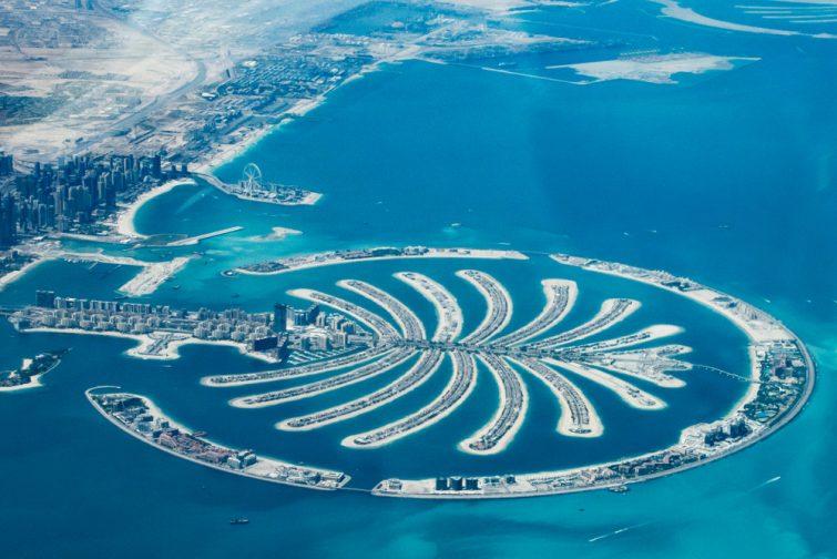 Le Palm Jumeirah est visible depuis l'espace - Dubaï